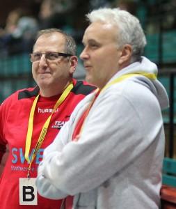 Thomas Freiwald (links) verabschiedet sich beim Team Esslingen, Vasile Oprea kommt. Foto: Rudel